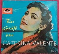 """Ein Gruß von Caterina Valente 10"""" EP Vinyl Polydor 45 077 LPH"""