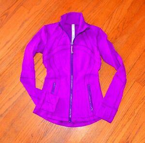 Lululemon Define Jacket Magenta Sz 2 Excellent Condition