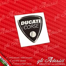 1 Adesivo Resinato Sticker 3D Ducati Corse Black Old 40 mm