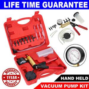 Car Hand Held Vacuum Pressure Pump Tester Set Brake Fluid Bleeder Bleeding Kit M