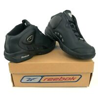 Reebok The Thirst Mens 8.5 Black Silver Basketball Shoes Mid Tops Vintage DS