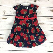 New Jojo Maman Bebe Corduroy Floral Party Dress 6-12 Months  G10