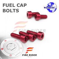 FRW Red Fuel Cap Bolts Set For Kawasaki ZX-10R Ninja 06-13 07 08 09 10 11 12