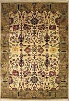 Rugstc 6x9 Senneh Chobi Ziegler White Area Rug,Natural dye, Hand-Knotted,Wool