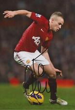 MAN UNITED: TOM CLEVERLEY SIGNED 6x4 ACTION PHOTO+COA