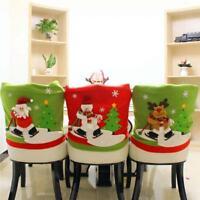 Holy Christmas Chair Cover Snowman Santa Pattern Chair