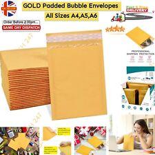 More details for padded bubble envelopes postal bag a3 a4 a5 a6 bubble wrap golden brand quality