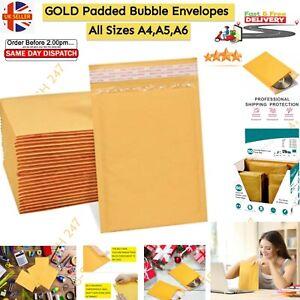 Padded Bubble Envelopes Postal Bag A3 A4 A5 A6 Bubble Wrap GOLDEN BRAND QUALITY