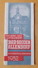 altes Reise Prospekt Heilbad und Luftkurort Bad Sooden Allendorf, 1932