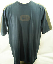 NIKE Swoosh T Shirt MENS 2XL Thick 100% Cotton Gray & Blue Athletic