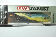 """koppers live target bass topwater surface walking frog 4 1/8"""" 5/8oz yellow blue"""