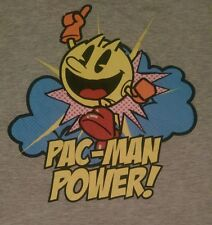 """""""Pac - Man Power!"""" Light Gray T-Shirt Awesome Color Graphic Mens' Size S (28-30)"""