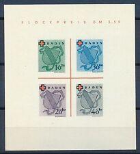 Französische Zone-Briefmarken aus Baden (ab 1945) mit ohne Gummi für Rotes Kreuz