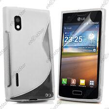 Housse Etui Coque Silicone Motif S-line Gel Transparent LG Optimus L5 E610
