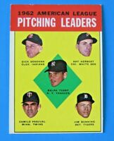 1963 TOPPS PITCHING LEADERS BASEBALL CARD #8 ~ EX/MT