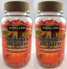 Kirkland Ibuprofen IB Tablets 200mg NSAID Pain/Fever 500 Caplets x 2