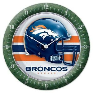 Wincraft NFL Round Wall Game Clock New Denver Broncos