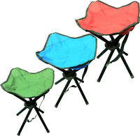 FOLDING PORTABLE 4 LEGS STRONG CAMPING STOOL/CHAIR For SEAT HIKING FISHING BBQ