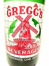 vintage ACL Soda POP Bottle:  green GREGGS'S OF BROWNSVILLE, PA  - 32 oz