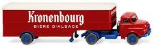 """Wiking 051322 Saviem Semirimorchio Autoarticolato """" Kronenbourg """" Ho 1:87 Nuovo"""