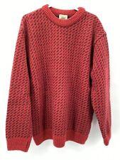 L. L. Bean Men's Sweater Wool Blend Crew Neck Norwegian Made In Norway Sz XL-Reg