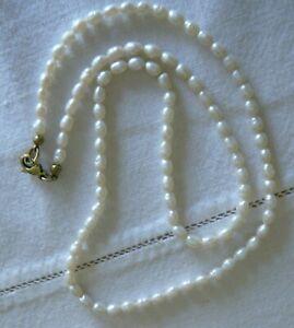 zarte Perlenkette Barokperlen 333 Goldverschluss neuwertig 14 g