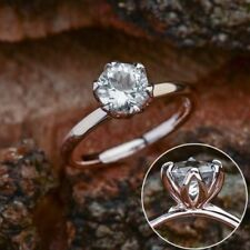 Ring in 925 Sterling Silver 2.40Ct White Round Moissanite Engagement Wedding