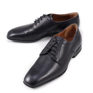 Salvatore Ferragamo 'Cantu' Black Textured Leather Derby 6 Wide NIB $695 Shoes