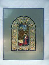 Baby Jesus and the Manger Ink Stained Glass Sketch by C. Schattauer