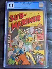 SUB-MARINER COMICS #19 CGC VF- 7.5; White pg!; rare!