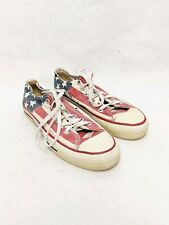 Vtg Converse Made In USA Stars Stripes American Flag Shoes Mens Sz 5 Womens 7