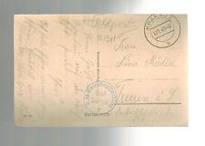 1940 Krakow Germany Poland Postcard Cover Waffen SS 3rd Totenkopf Div Feldpost