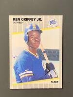 1989 Fleer #548 Ken Griffey Jr Rookie High Grade Seattle Mariners HOF