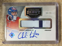 16-17 UD Ultimate Autographed Debut Threads CHARLIE LINDGREN RC Rookie Patch /99