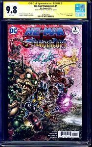 He-Man Thundercats #1 CGC SS 9.8 signed VILLAINS VARIANT Freddie Williams NM/MT