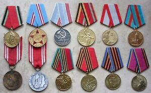 LOT 12 VARIOUS POLAND RUSSIA UKRAINE USSR WWII VETERAN & ARMY SERVICE MEDALS