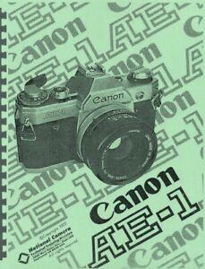 Canon AE-1 Camera Repair Manual (NatCam) Reprint