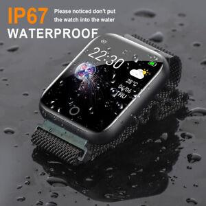 Bluetooth Smartwatch Armband Pulsuhr Blutdruck Herren Damen Fitness Bracelet NEU