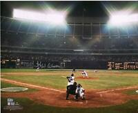 """Hank Aaron Atlanta Braves Signed 16"""" x 20"""" Home Run 715 Photo - Signed in Silver"""