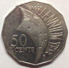 2000 Australian 50 Cent Coin Millennium Year Circulated