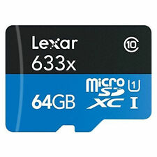 Cartes mémoire Lexar microsdxc pour téléphone mobile et assistant personnel (PDA), 64 Go