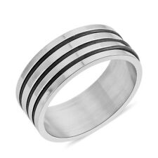 ION Plated Black and Stainless Steel Men's Ring (Size 13) w/Gift Box!
