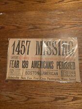 Lusitania Sinking Disaster May 8 1915