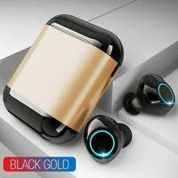 Écouteurs sans fil bluetooth 5.0  wireless son HiFi pour iPhone/samsung ( Or )