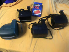 Lot Of 4 Vintage Polaroid Cameras-w/ 1 unopened film                           U
