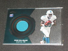 Mike Gillisee Dolphin Star Legend Authentic Event Game Used Jersey Football Card