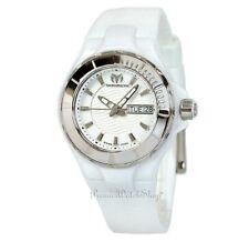 NEW TechnoMarine Cruise White Ceramic Case / Silicone Strap Ladies Watch 110022