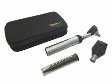 *UPGRADED CASE*   L.E.D. Fiberoptic Otoscope - OPHTHALMOSCOPE Diagnostic Kit