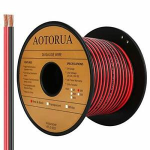 AOTORUA 100FT 16/2 Gauge Red Black Cable Hookup Electrical Wire, 16AWG 2