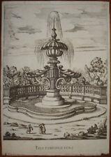 old print G.B. Falda fontana villa pamphili roma 1691 stampa antica